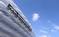 FUSSBALL   CHAMPIONS LEAGUE  FINALE in Munich   2011/2012      FC Bayern Muenchen - FC Chelsea          14.05.2012 Uebersicht der Allianz Arena mit dem Branding fuer das Finale
