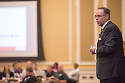 Patrick Donadio presents to a group during the Leadership Development Program event in Baker Ballroom on August 26, 2016. His presentation, Communicating with IMPACT, focused on creating effective communication within the business world. Photo by Emily Matthews
