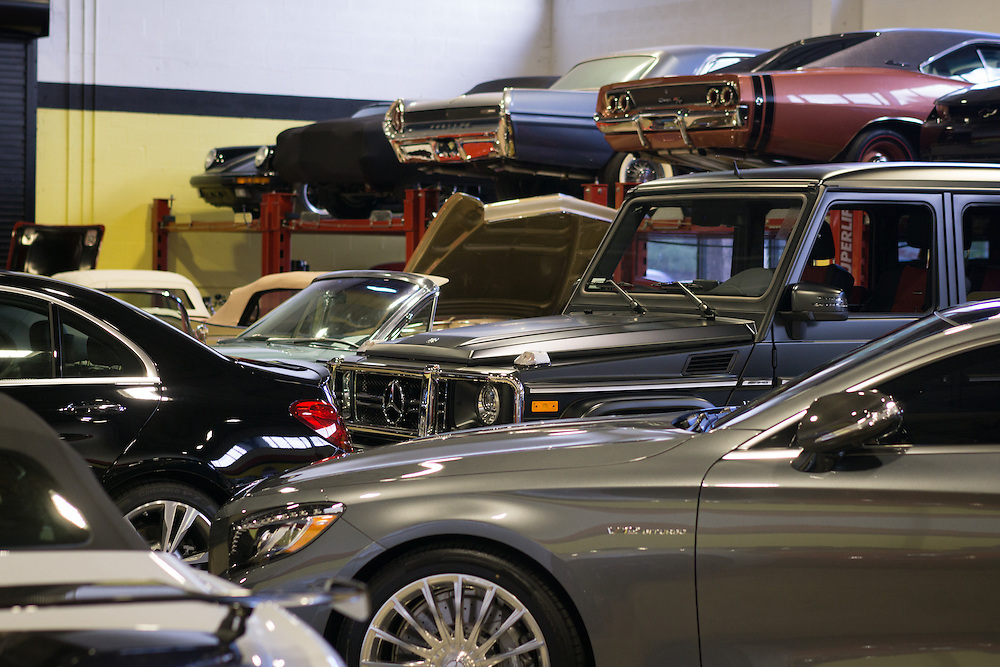 DORAL, FLORIDA, DECEMBER 11, 2015<br /> The showroom of The Garage, an exclusive auto store owned by Frank Torres, featuring extremely luxurious cars and vintage hard to find vehicles. Torres partnered with Alex Vega of The Auto Firm to cater to athletes and entertainers.<br /> (Photo by Angel Valentin/Freelance)