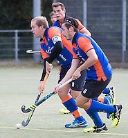 HAARLEM - Eerste ronde bekerhockey om de SILVERCUP. Saxenburg tegen Abcoude . midden  aanvoerder Arjan Duijff van Saxenburg. COPYRIGHT KOEN SUYK