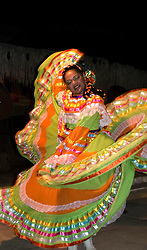 Cabo San Lucas:  Beautifully costumed dancers entertain at Cascadas de Baja.