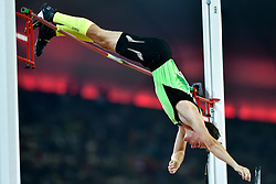 22-08-2015 CHN: IAAF World Championships Athletics day 1, Beijing<br /> National record 5.70 m for Robert RENNER SLO by Pole Vault<br /> Photo by Ronald Hoogendoorn / Sportida