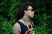 Rapper Gunplay outside of a studio in Atlanta, Georgia April 25, 2013.