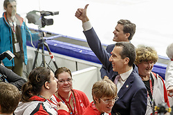 22.03.2017, Eisstadion Liebenau, Graz, AUT, Special Olympics 2017, World Wintergames, im Bild Bundeskanzler Christian Kern // during the Special Olympics World Wintergames 2017 in the icestadium, Graz, Austria on 2017/03/22, EXPA Pictures © 2017, PhotoCredit: EXPA/ Erwin Scheriau