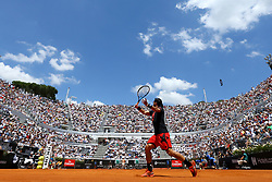 May 18, 2018 - Rome, Italy - Fabio Fognini (ITA) at Foro Italico in Rome, Italy  during Tennis ATP Internazionali d'Italia BNL quarter-finals on May 18, 2018. (Credit Image: © Matteo Ciambelli/NurPhoto via ZUMA Press)