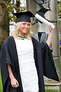 Aine Boyle who got her Honors Bachelor of Arts Degree from NUI,Galway. Photo:Andrew Downes