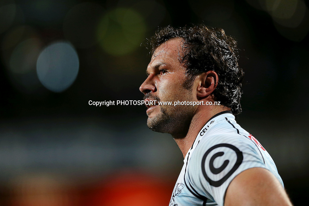 Bismarck du Plessis of the Sharks looks on. Super Rugby rugby union match, Blues v Sharks at North Harbour Stadium, Auckland, New Zealand. Friday 23rd May 2014. Photo: Anthony Au-Yeung / photosport.co.nz