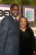 7 February-Washington, D.C: (L-R) Designer Andre Wells and Tanya Lombard, Vice President of Public Affairs, AT&T attends the BET Honors Honoree Dinner held at the National Museum of Women in the Arts on February 7, 2014 in Washington, D.C.  (Terrence Jennings)