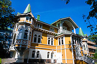 Finland, Helsinki. The embassy district.