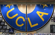 Nov 15, 2017; Los Angeles, CA, USA;  General overall view of center court section used from 1980-2010 on display during a NCAA basketball between the Central Arkansas Bears and the UCLA Bruins at Pauley Pavilion.