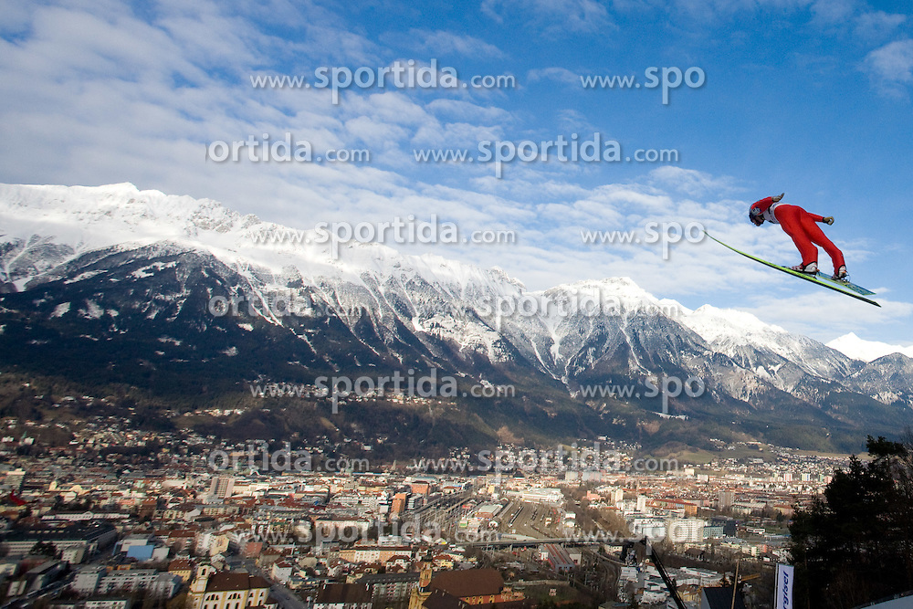 Gregor Schlierenzauer of Austria competes during Qualification round of the FIS Ski Jumping World Cup event of the 58th Four Hills ski jumping tournament, on January 3, 2010 in Bergisel, Innsbruck, Austria.(Photo by Vid Ponikvar / Sportida)