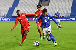 ROLANDO MANDRAGORA (ITALY) VS KYLE WALKER PETERS (ENGLAND)     <br /> Football friendly match Italy vs England u21<br /> Ferrara Italy November 15, 2018<br /> Photo by Filippo Rubin