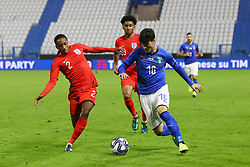ROLANDO MANDRAGORA (ITALY) VS KYLE WALKER PETERS (ENGLAND)     <br /> Football friendly match Italy vs England u21<br /> Ferrara Italy November 15, 2018<br /> Photo by Filippo Rubin