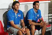DESCRIZIONE : Cagliari Qualificazione Eurobasket 2009 Serbia Italia <br /> GIOCATORE : Luca Infante Tommaso Fantoni <br /> SQUADRA : Nazionale Italia Uomini <br /> EVENTO : Raduno Collegiale Nazionale Maschile <br /> GARA : Serbia Italia Serbia Italy <br /> DATA : 20/08/2008 <br /> CATEGORIA : Ritratto <br /> SPORT : Pallacanestro <br /> AUTORE : Agenzia Ciamillo-Castoria/S.Silvestri <br /> Galleria : Fip Nazionali 2008 <br /> Fotonotizia : Cagliari Qualificazione Eurobasket 2009 Serbia Italia <br /> Predefinita :