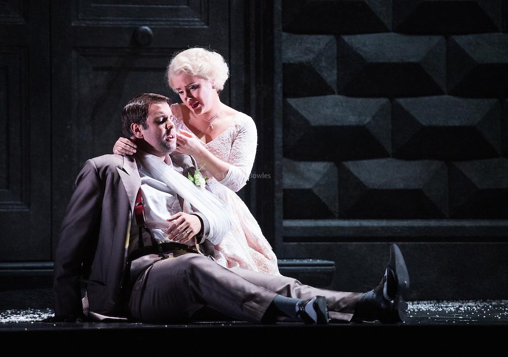 Glyndebourne Touring Opera present Don Giovanni by Wolfgang Amadeus Mozart<br /> <br /> <br /> Don Giovanni - Duncan Rock<br /> Donna Anna -  Ana Maria Labin<br /> Don Ottavio  - Anthony Gregory<br /> Donna Elvira  - Magdalena Molendowska<br /> Leporello  - Brandon Cedel<br /> Il Commendatore  - Andrii Goniukov<br /> Zerlina  - Louise Alder<br /> Masetto  - Božidar Smiljanić<br /> <br /> <br /> Conductor Pablo Gonz&aacute;lez (15, 22, 25, 27, 30 Oct; 4,8, 11, 15, 18, 22, 25 Nov)<br /> Ben Gernon (29 Nov; 2, 6, 9 Dec)<br /> Director Jonathan Kent<br /> Revival Director Lloyd Wood<br /> Designer Paul Brown<br /> Lighting Designer Mark Henderson<br /> <br /> The Glyndebourne Tour Orchestra<br /> The Glyndebourne Chorus<br /> <br /> Don Giovanni Duncan Rock<br /> Donna Anna Ana Maria Labin<br /> Don Ottavio Anthony Gregory<br /> Donna Elvira Magdalena Molendowska<br /> Leporello Brandon Cedel<br /> Il Commendatore Andrii Goniukov<br /> Zerlina Louise Alder<br /> Masetto Božidar Smiljanić