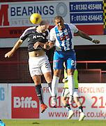 Dundee&rsquo;s Gary Harkins and Kilmarnock&rsquo;s Josh Magennis - Dundee v Kilmarnock, Ladbrokes Premiership at Dens Park <br /> <br />  - &copy; David Young - www.davidyoungphoto.co.uk - email: davidyoungphoto@gmail.com