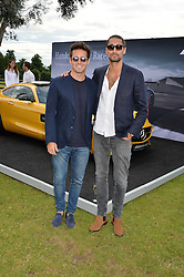 Left to right, SPENCER MATTHEWS and HUGO TAYLOR at the Laureus King Power Cup polo match held at Ham Polo Club, Richmond on 16th June 2016.