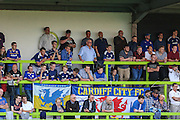 Cardiff City supporters during the Pre-Season Friendly match between Forest Green Rovers and Cardiff City at the New Lawn, Forest Green, United Kingdom on 15 July 2015. Photo by Shane Healey.