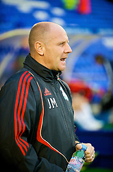 BIRKENHEAD, ENGLAND - Wednesday, September 2, 2009: Liverpool's Reserve Team Head Coach John McMahon during the FA Premiership Reserves League (Northern Division) match against Bolton Wanderers at Prenton Park. (Photo by David Rawcliffe/Propaganda)