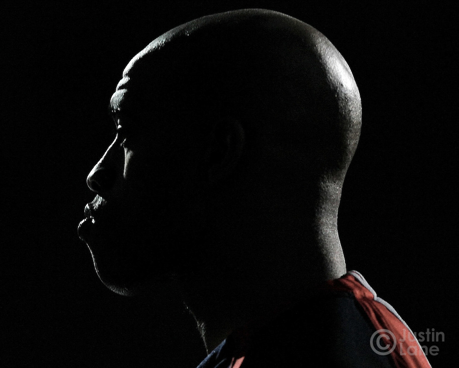 The New Jersey Nets' Vince Carter is silhouetted at the start of a game on December 20, 2006.