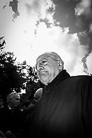 MARCIANISE (CE) - XX FEBBRAIO 2018: Vincenzo De Luca (Partito Democratico), Presidente della Regione Campania ed ex sindaco di Salerno, partecipa alla presentazione del servizio di controllo con i droni per il monitoraggio della Terra dei Fuochi a Marcianise (CE) il 3 febbraio 2018.<br /> <br /> Le elezioni politiche italiane del 2018 per il rinnovo dei due rami del Parlamento – il Senato della Repubblica e la Camera dei deputati – si terranno domenica 4 marzo 2018. Si voterà per l'elezione dei 630 deputati e dei 315 senatori elettivi della XVIII legislatura. Il voto sarà regolamentato dalla legge elettorale italiana del 2017, soprannominata Rosatellum bis, che troverà la sua prima applicazione<br /> <br /> ###<br /> <br /> MARCIANISE, ITALY - 3 FEBRUARY 2018: Vincenzo De Luca (Democratic Party / Partito Democratico), President of the Campania region and former mayor of Salerno, participates at the inauguration of the Drone air control service for the Terra dei Fuochi (Land of Fires), an area near Naples that has been dogged with mafia-related waste fires, in Marcianise, Italy, on February 3rd 2018.<br /> <br /> The 2018 Italian general election is due to be held on 4 March 2018 after the Italian Parliament was dissolved by President Sergio Mattarella on 28 December 2017.<br /> Voters will elect the 630 members of the Chamber of Deputies and the 315 elective members of the Senate of the Republic for the 18th legislature of the Republic of Italy, since 1948.