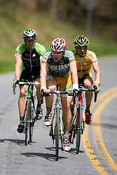 A three man break consisting of Jonny Sundt (KBS), Dan Timmerman (KOD), and Eddy Hilger (PRI).  Stage 5 of The Tour of Virginia traveled over 100 miles from Waynesboro, VA to Staunton on April 27, 2007. The stage took country roads to the south with a few rolling climbs before returning north to Staunton.  Formerly known as the Tour of Shenandoah, the ToV has gained National Race Calendar (NRC) status for the first time in its five year history.