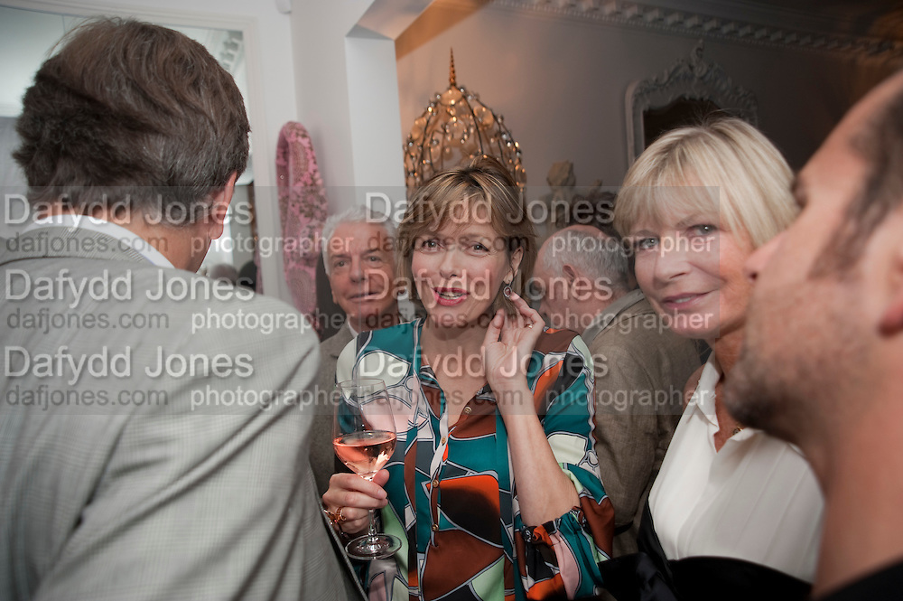 THE COUNTESS OF WOOLTON; PANDORA DELEVIGNE, Party at the home of Amanda Eliasch in Chelsea after the opening of As I Like it. A memory by Amanda Eliasch and Lyall Watson. Chelsea Theatre. Worl's End. London. 4 July 2010<br /> <br />  , -DO NOT ARCHIVE-© Copyright Photograph by Dafydd Jones. 248 Clapham Rd. London SW9 0PZ. Tel 0207 820 0771. www.dafjones.com.
