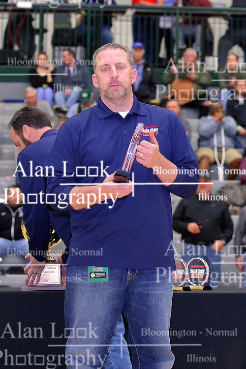 30 December 2016: Dave Ollofson. Rockford Lutheran v Camp Point Central girls, State Farm Holiday Classic Coed Basketball Tournament at Shirk Center, Bloomington Illinois