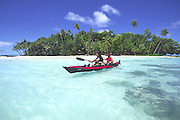 Kayak, Aitutaki, Cook Islands<br />