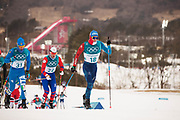 PYEONGCHANG-GUN, SOUTH KOREA - FEBRUARY 11: Clement Parisse of France during the Mens Skiathlon 15km+15km Cross-Country Skiing on day two of the PyeongChang 2018 Winter Olympic Games  at Alpensia Cross-Country Centre on February 11 in Pyeongchang-gun, South Korea. Photo by Nils Petter Nilsson/Ombrello               ***BETALBILD***