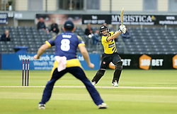 Michael Klinger of Gloucestershire watches as he is caught by Graham Wagg of Glamorgan - Mandatory by-line: Robbie Stephenson/JMP - 10/06/2016 - CRICKET - Brightside Ground - Bristol, United Kingdom - Gloucestershire v Glamorgan - NatWest T20 Blast