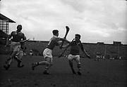04/09/1960<br /> 09/04/1960<br /> 4 September 1960 <br /> All-Ireland Final: Tipperary v Wexford at Croke Park, Dublin.<br /> Wexford goalie, Pat Nolan saving.