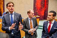 DEN HAAG - DENK-kamerleden Farid Azarkan Staatssecretaris Menno Snel van Financien (D66) en Minister Wopke Hoekstra van Financien (CDA) tijdens de Algemene Financiele Beschouwingen in de Tweede Kamer. Tweede Kamer: Algemene Financiële Beschouwingen ROBIN UTRECHT