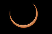 An annular solar eclipse is seen from Lake Tahoe, Calif. on Sunday May 20, 2012.<br /> (AP Photo/Kevin Clifford).