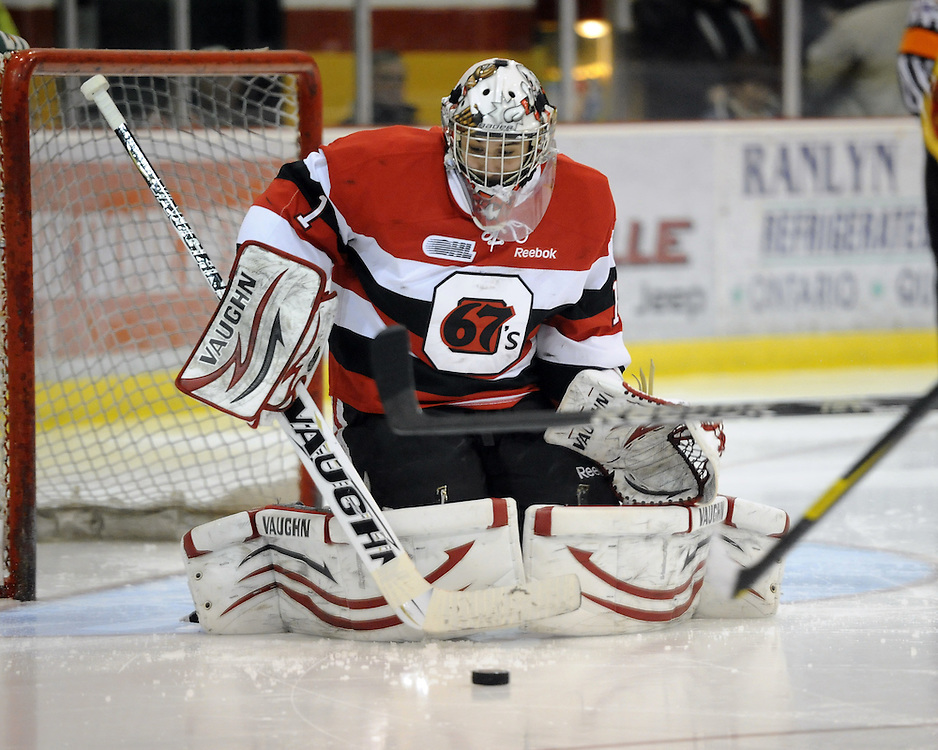 Petr Mrazek of the Ottawa 67's. Photo by Aaron Bell/OHL Images