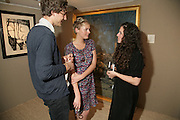 Tom Webber, Rosalie Barkes and Vanessa Brodrick, New Collectors Evening. Grosvenor House Antiques Fair. Park Lane. 19 June 2007.  -DO NOT ARCHIVE-© Copyright Photograph by Dafydd Jones. 248 Clapham Rd. London SW9 0PZ. Tel 0207 820 0771. www.dafjones.com.
