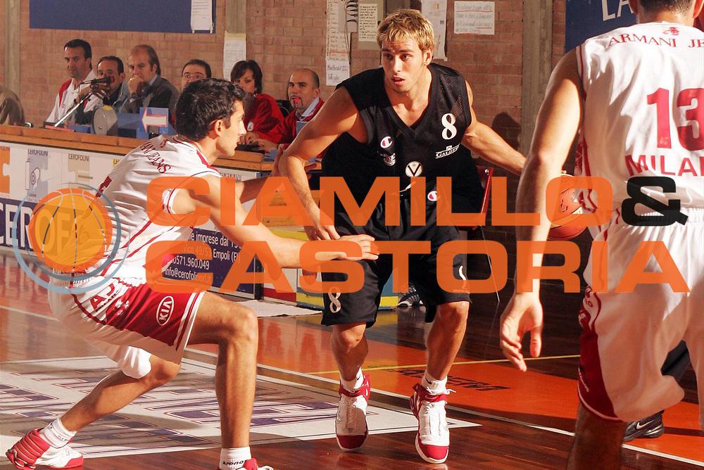 DESCRIZIONE : CASTELFIORENTINO TORNEO DI PREPARAZIONE CAMPIONATO LEGA A1 STAGIONE 2005-2006<br /> GIOCATORE : ENGLISH<br /> SQUADRA : VIRTUS BOLOGNA<br /> EVENTO : TORNEO DI PREPARAZIONE CAMPIONATO LEGA A1 STAGIONE 2005-2006<br /> GARA : ARMANI JEANS MILANO-VIRTUS BOLOGNA<br /> DATA : 18/09/2005<br /> CATEGORIA : Palleggio<br /> SPORT : Pallacanestro<br /> AUTORE : AGENZIA CIAMILLO &amp; CASTORIA/P.Lazzeroni
