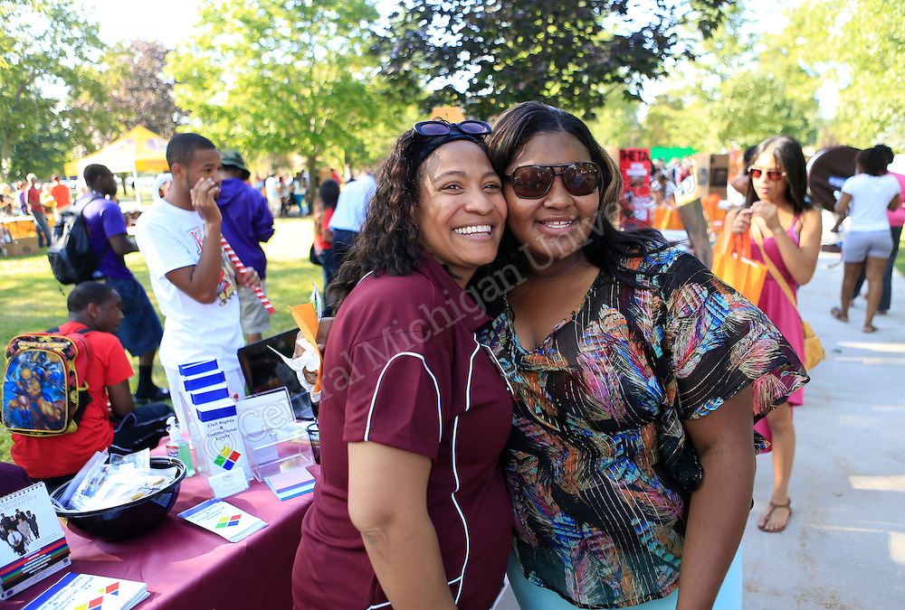 CMU says 'Welcome Back!' with free food, entertainment and giveaways during today's Get Acquainted Day! This afternoon, students were able to chat with campus departments, RSOs and local businesses at this annual event.   Photo by Steve Jessmore/Central Michigan University