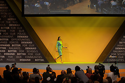 © Licensed to London News Pictures . 17/09/2019. Bournemouth, UK. Lib Dem leader JO SWINSON walks on to the stage to deliver the Leader's Speech on the final day of the Liberal Democrat Party Conference at the Bournemouth International Centre . Photo credit: Joel Goodman/LNP