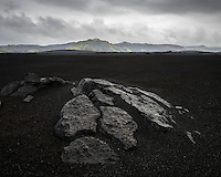 Veiðivatnahraun lava field, Central Highlands of Iceland.