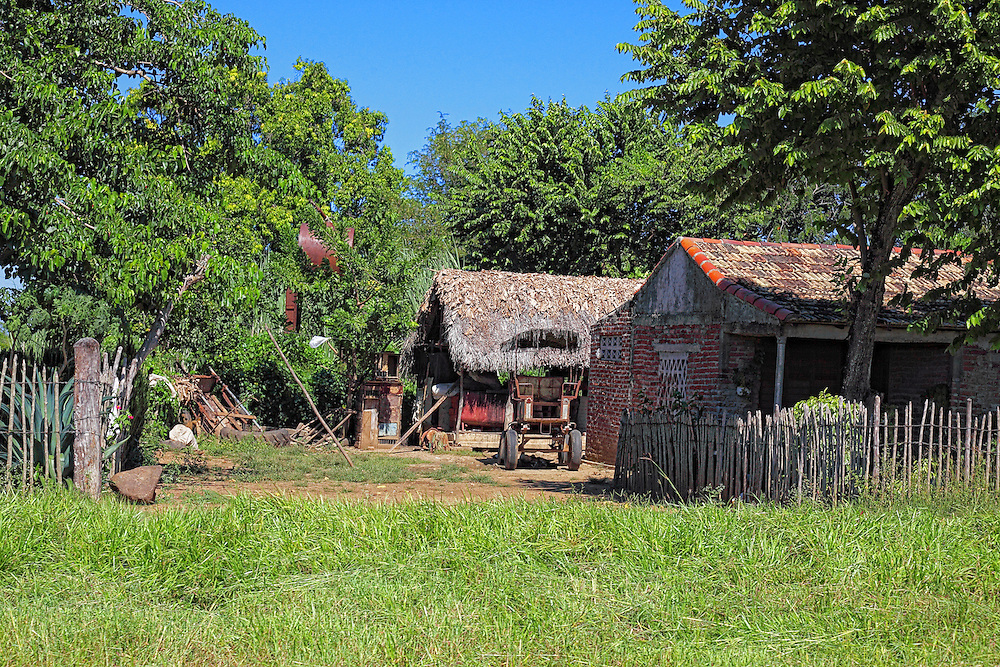 Farm house in the Bartolome Maso area, Granma, Cuba.