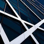 Modern striped facade detail of the Bowman Gilfillan building, Bree Street Cape Town.