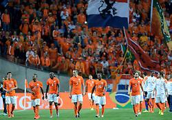 04-06-2014 NED: Vriendschappelijk Nederland - Wales, Amsterdam<br /> Nederland wint met 2-0 van Wales /  Stefan de Vrij, Daryl Janmaat, Bruno Martins Indi, Jeremain Lens, Georgino Wijnaldum