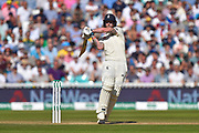 Ben Stokes of England plays an attacking shot during the 5th International Test Match 2019 match between England and Australia at the Oval, London, United Kingdom on 14 September 2019.