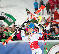 13-01-2015 AUT: Alpine Skiing World Cup, Flachau<br /> first placed Frida Hansdotter of Sweden celebrate after her 2nd run of the ladie's Slalom of the FIS Ski Alpine World Cup at the Hermann Maier Weltcupstrecke in Flachau<br /> ***NETHERLANDS ONLY***