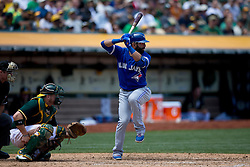 OAKLAND, CA - JULY 23:  Jose Bautista #19 of the Toronto Blue Jays at bat against the Oakland Athletics during the fifth inning at O.co Coliseum on July 23, 2015 in Oakland, California. The Toronto Blue Jays defeated the Oakland Athletics 5-2. (Photo by Jason O. Watson/Getty Images) *** Local Caption *** Jose Bautista