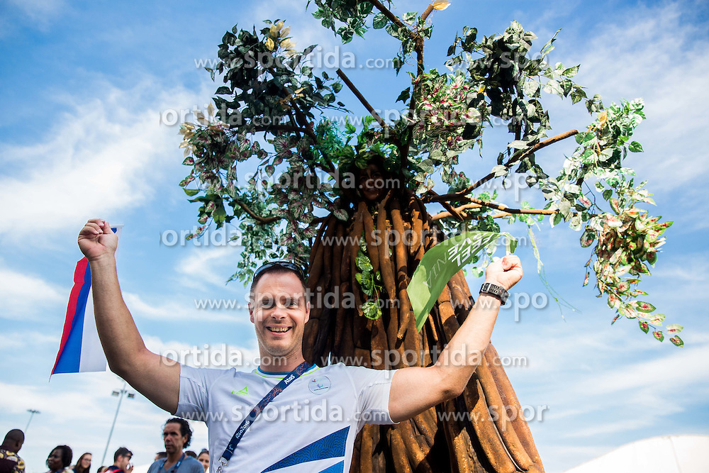 Dejan Fabcic of Slovenia posing after the Village flag raising ceremony ahead of the Rio 2016 Summer Paralympics Games on September 4, 2016 in the Paralympic Village, Rio de Janeiro, Brazil. Photo by Vid Ponikvar / Sportida