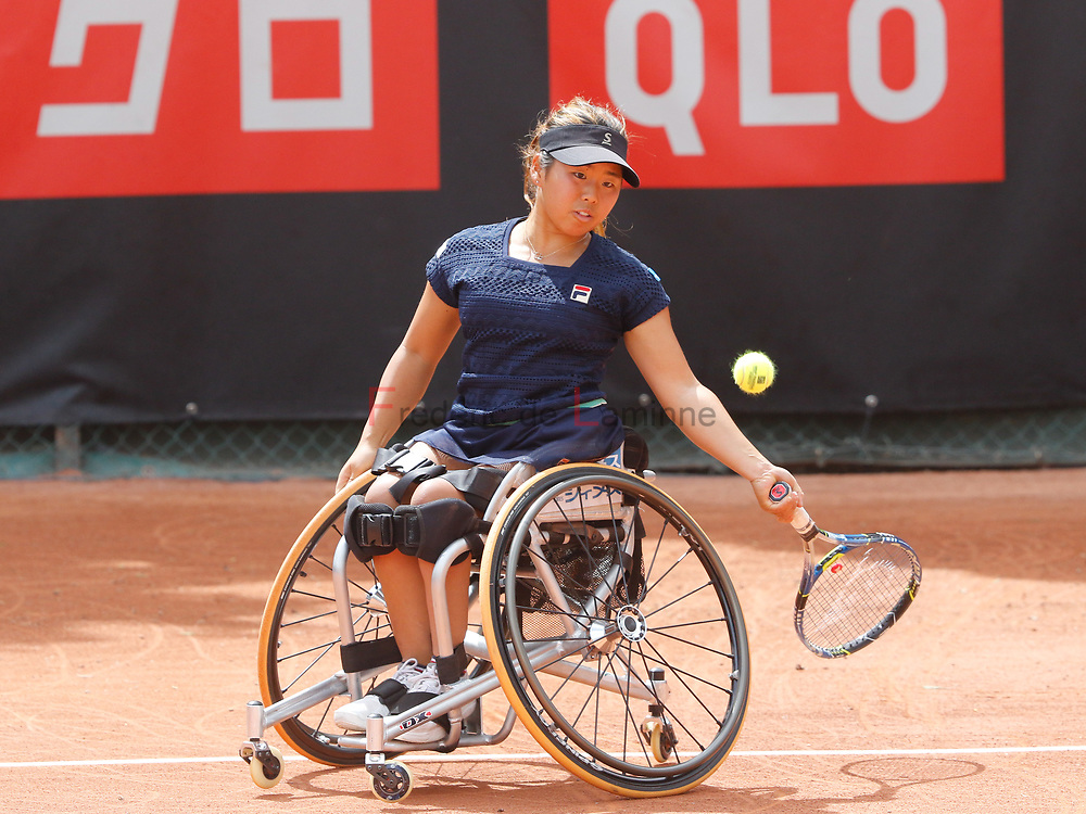 20170730 - Namur, Belgium : Yui Kamiji (JPN) returns the ball during her finale against Aniek Van Koot (NED) at the 30th Belgian Open Wheelchair tennis tournament on 30/07/2017 in Namur (TC Géronsart). © Frédéric de Laminne