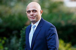 © Licensed to London News Pictures. 11/10/2016. London, UK. Communities and Local Government Secretary SAJID JAVID attends a cabinet meeting in Downing Street on Tuesday, 11 October 2016. Photo credit: Tolga Akmen/LNP