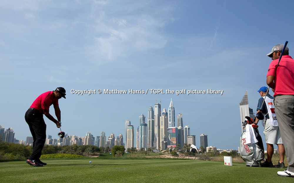 Tiger WOODS (USA) during fourth round Omega Dubai Desert Classic 2014, Emirates Club,Dubai,UAE.